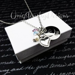 Mother's Flower Heart Necklace