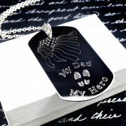 Engraved Military Dog Tag