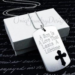 Personalized Son Cross Dog Tag