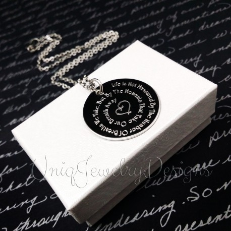 Life Quote Necklace
