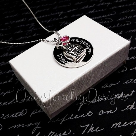 Personalized Princess Castle Necklace