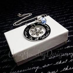 Personalized Winter Wonderland Snowflake Necklace
