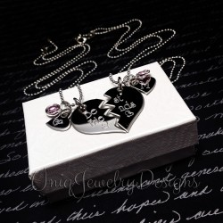 Best Friend Split Heart Necklace