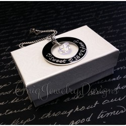 Personalized Engraved Sweet Sixteen Necklace