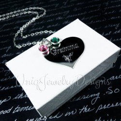 Engraved Grandmother Heart Necklace