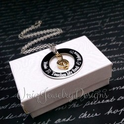 Personalized Music Touches My Soul Treble Clef Necklace