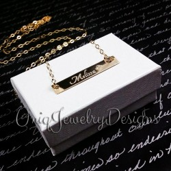 Personalized 14k Gold Filled Name Bar