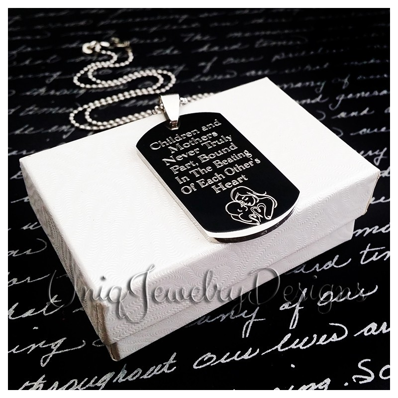Mother And Child Dog Tag For Son Uniqjewelrydesigns