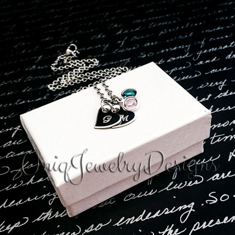 Pesonalized Initial Anchor Necklace