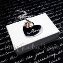 Heart Swarovski Birthstone Necklace