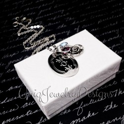 Personalized Rose Birthstone Necklace