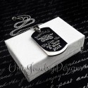 Super Dad Father's Dog Tag Necklace