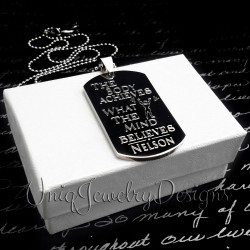 Personalized Motivational Fitness Dog Tag