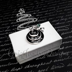 Personalized New Baby Birthstone Necklace