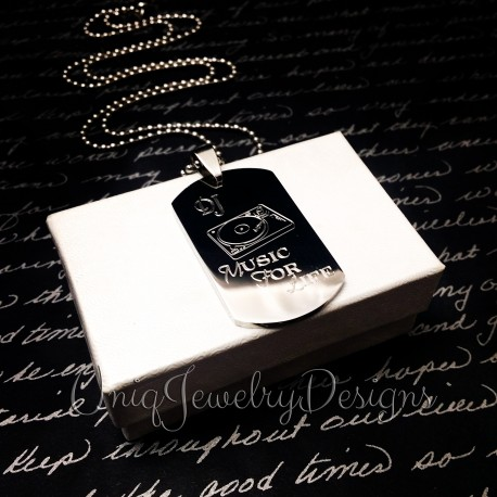 Personalized DJ Necklace