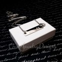 Silver Stainless Steel Name Bar Necklace