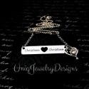Couples Bar Necklace Heart Cutout