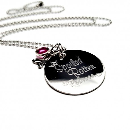 Spoiled Rotten Engraved Necklace