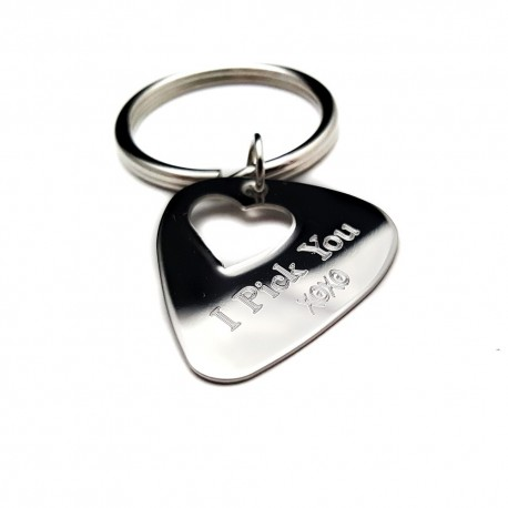 Personalized Heart Cut-Out Guitar Pick