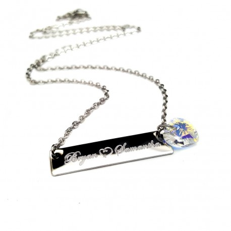 Personalized Couples Bar Necklace