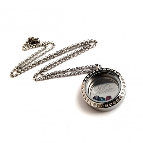 Mom Stainless Steel Memory Locket