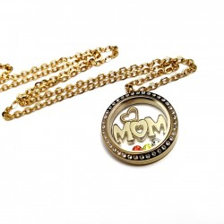 Gold Mom Memory Locket