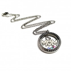 Silver Mom Memory Locket