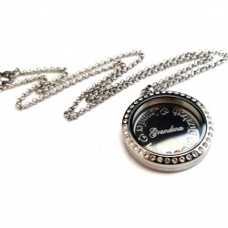 Silver Grandmother Memory Locket