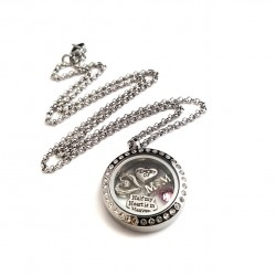 Half Of My Heart Is In Heaven Memorial Locket