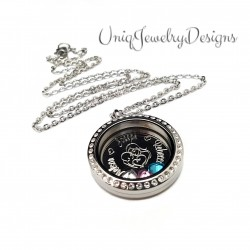 Mother and Children Floating Locket