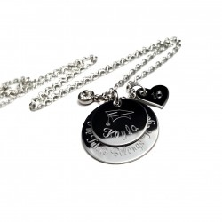 925 Sterling Silver Personalized Engraved Graduation Necklace