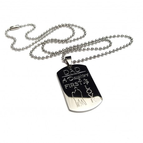 A Daughter's First Love Dad Necklace