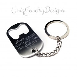 Dad Some Heroes Don't Wear Capes Bottle Opener Key Chain