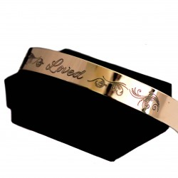 Personalized Reb Brass Bangle Bracelet