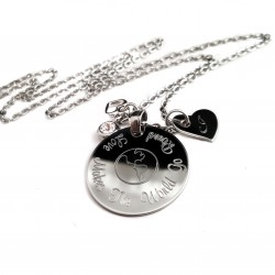 Love Makes The World Go Round Initial Necklace