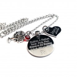 Personalized Mother's Tree Of Life Quote Necklace