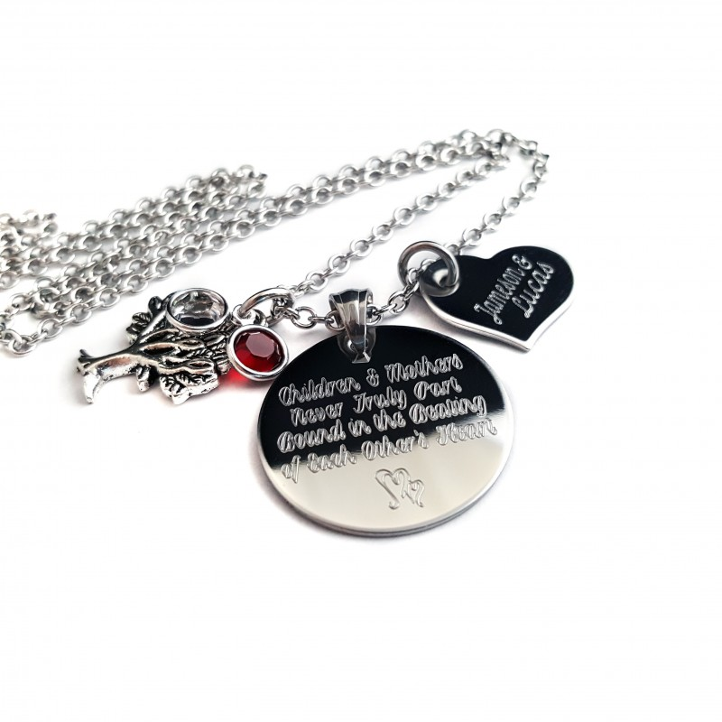 Personalized Motheru0027s Tree Of Life Quote Necklace ...