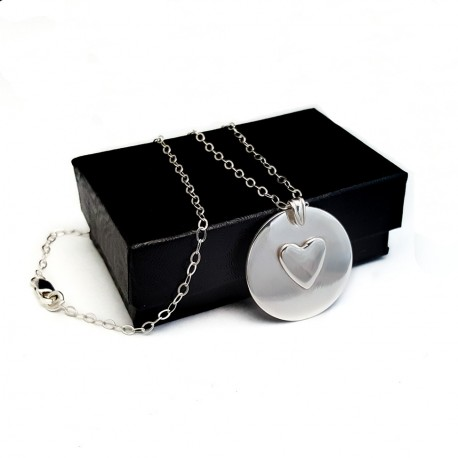 925 Sterling Silver Couples Necklace