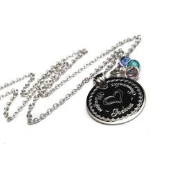 925 Sterling Silver Mother Child Name Necklace