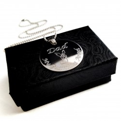 925 Sterling Silver Father's Memorial Keepsake Necklace