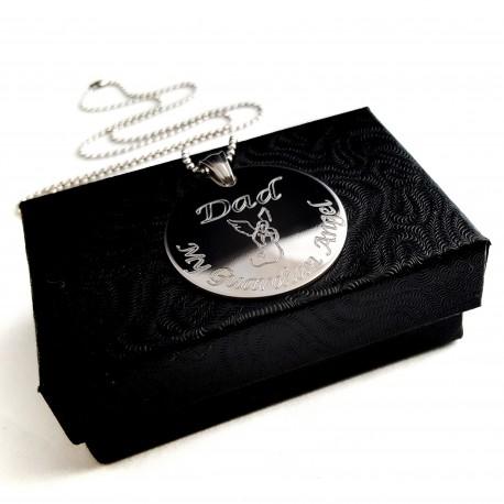 Personalized Men's Memorial Keepsake Necklace