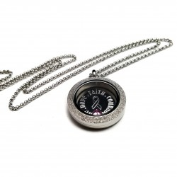 Stainless Steel Hope, Faith, Courage, Love Awareness Locket