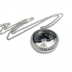 Compass Coordinate Floating Locket