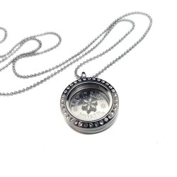 Let It Snow Personalized Floating Locket