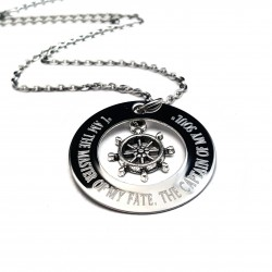 Ship Helm Necklace