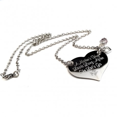 Daughter Engraved Heart Necklace