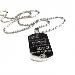 Men's Inspirational Medium Dog Tag Necklace