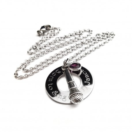 Personalized Born To Sing Necklace