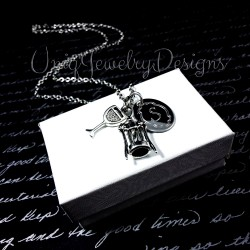 Wine Lovers Initial Necklace