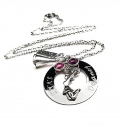Engraved CheerLeader Necklace